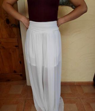 Falda larga blanca nueva