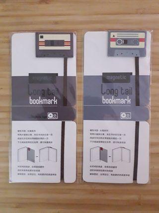 Lote marcapáginas magnéticos con forma de casette