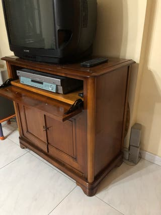 Mueble de television madera maciza