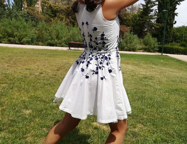 Vestido Niña De Fiesta Talla 10 12 Años De Segunda Mano Por