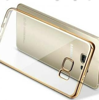 Funda Samsung Galaxy S7 EDGE (Ribeteado ORO)