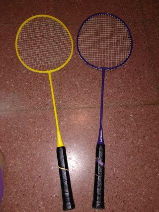 2 Raquetas de bádminton
