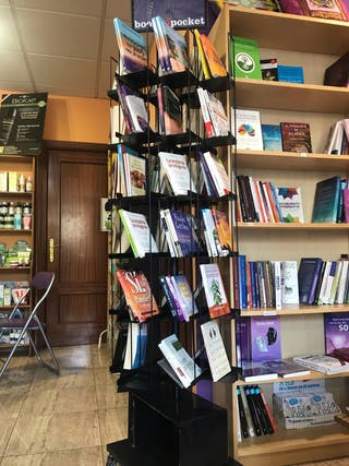 Expositor de libros giratorio