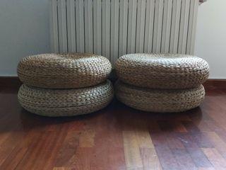 Puf ALSEDA fibras de platanera, IKEA