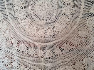 Mantel de ganchillo para mesa redonda