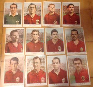 SELECCION ESPAÑOLA DE FUTBOL. Año 1959. 12 x 60€