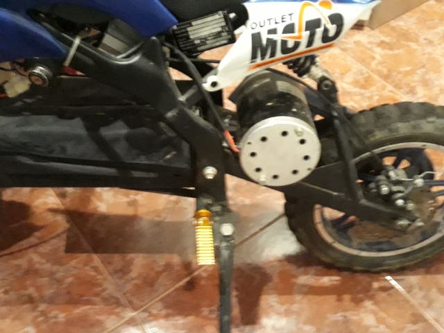mini moto de cross eléctrica