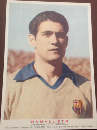 RAMALLETS. Guardameta F. C. BARCELONA