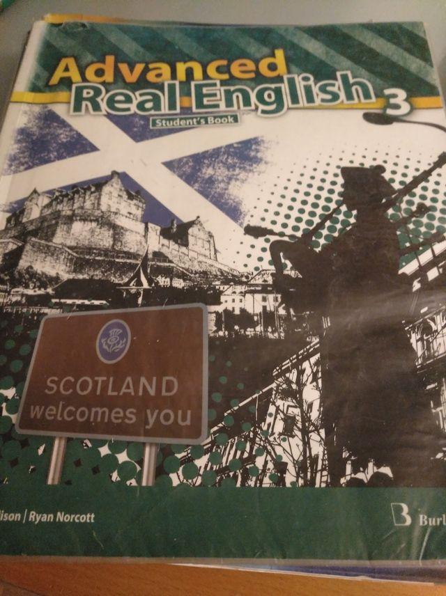 """libro de texto de INGLES """"Advanced Real English 3"""""""