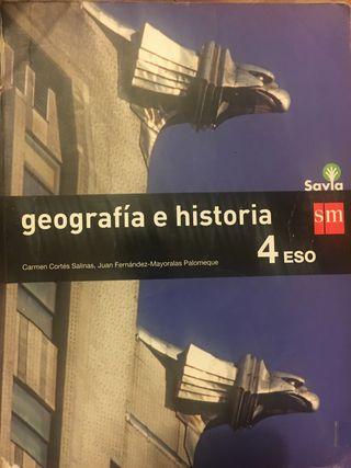 Libro Geografía e historia 4º de ESO.