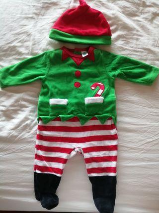 Disfraz pijama Navidad Duende ropa bebe