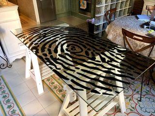 Mesa para comedor o escritorio de cristal