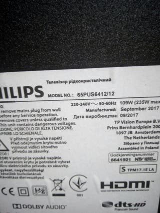 placas tv philips 65PUS6412/12