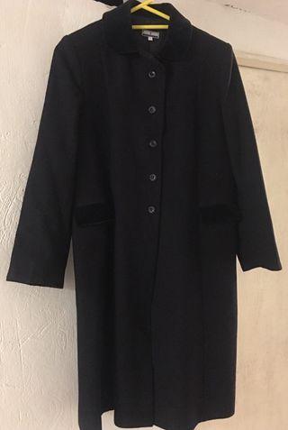 Abrigo de lana largo azul iscuro. Niña talla 12.