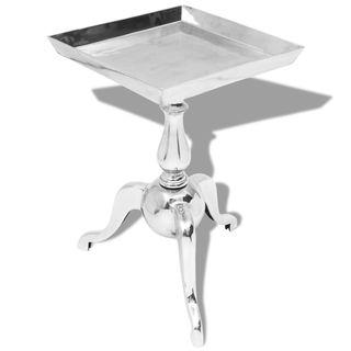vidaXL Mesita auxiliar cuadrada aluminio 243511