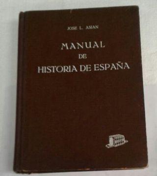 Libro Manual de historia de historia de españa