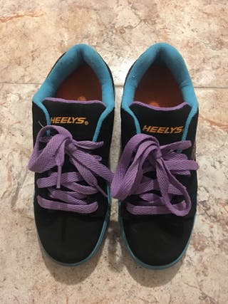 Zapatillas Heelys con ruedas Talla 37. Nuevas