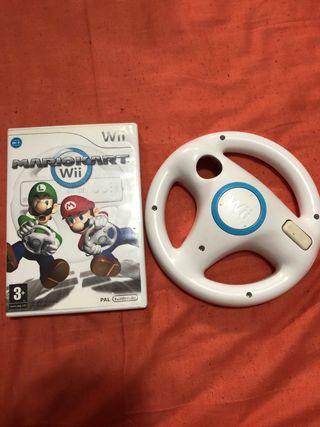 Mario kart wii + Volante para Wii