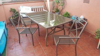 mesa y sillas jardín/terraza