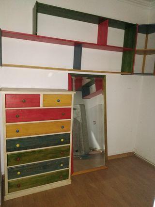 conjunto estantería