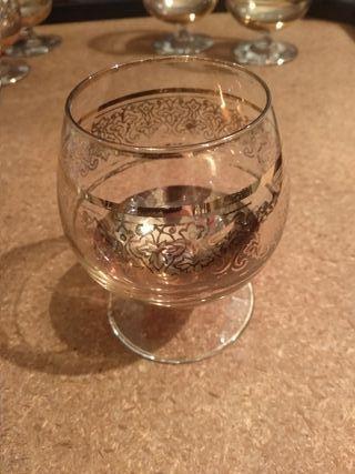 Juego de 6 copas pequeñas de cristal