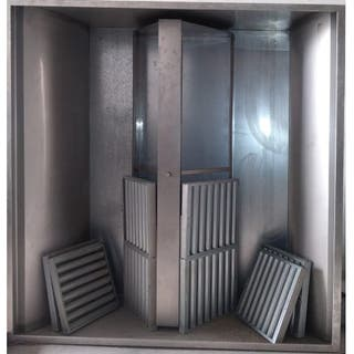 Campana extractora horeca industrial isla c. motor