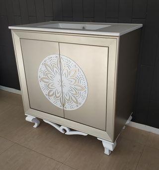 Mueble de baño estilo isabelino, vintage, moderno