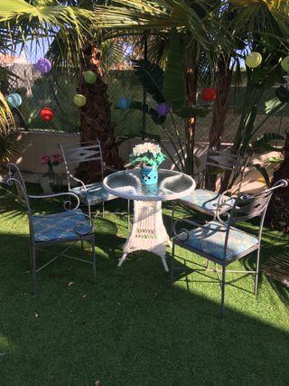 sillas jardín - terraza de forja