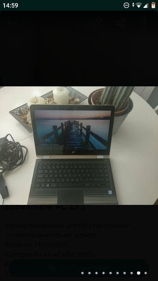 """Portátil Hp pavilion x360 convertible PC 13'3"""""""