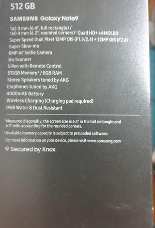 CAMBIO NOTE 9 512GB 8GB