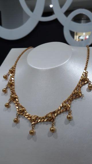 Collar de oro 18kt