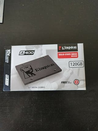 Disco duro SSD 120GB con caja y funda