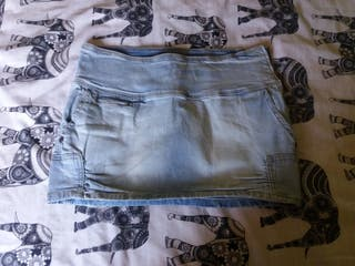 Minifalda vaquera Bershka 38