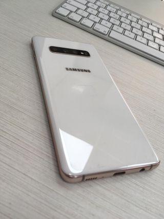 SAMSUNG S10 PLUS 512GB BLANCO CERAMICO Y MARCO ORO