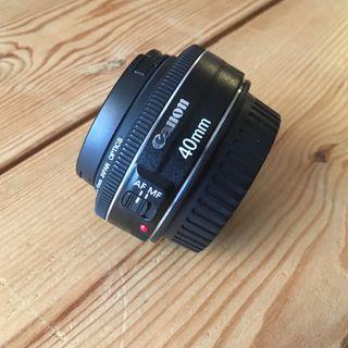 Canon ef 40mm 2.8 objetivo