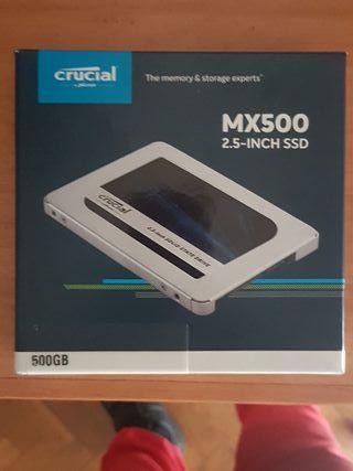 DD SSD Crucial 500 Gbs.