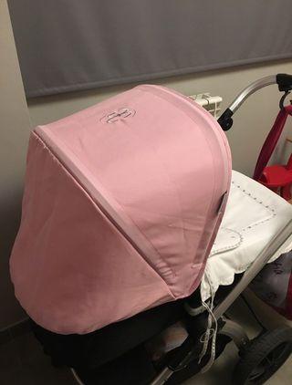 Capota y saco de invierno rosa