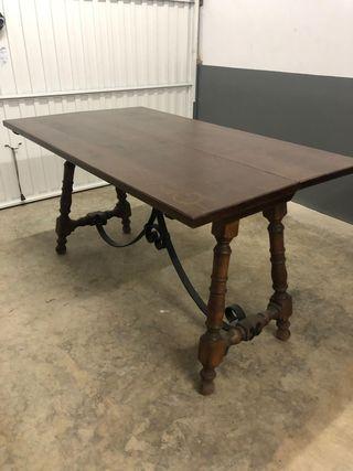 Mueble-mesa plegable rústica