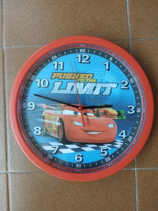 Reloj de pared infantil de Cars