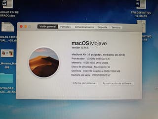 Macbook Air 2014 i5 256GB (128 SSD + 128 SD)