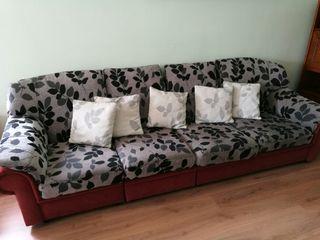 sofà 4-5 places, modular, fundes extraïbles