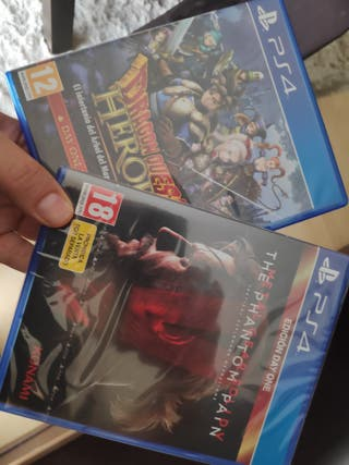 metal gear solid V & Dragon Quest Heroes ps4