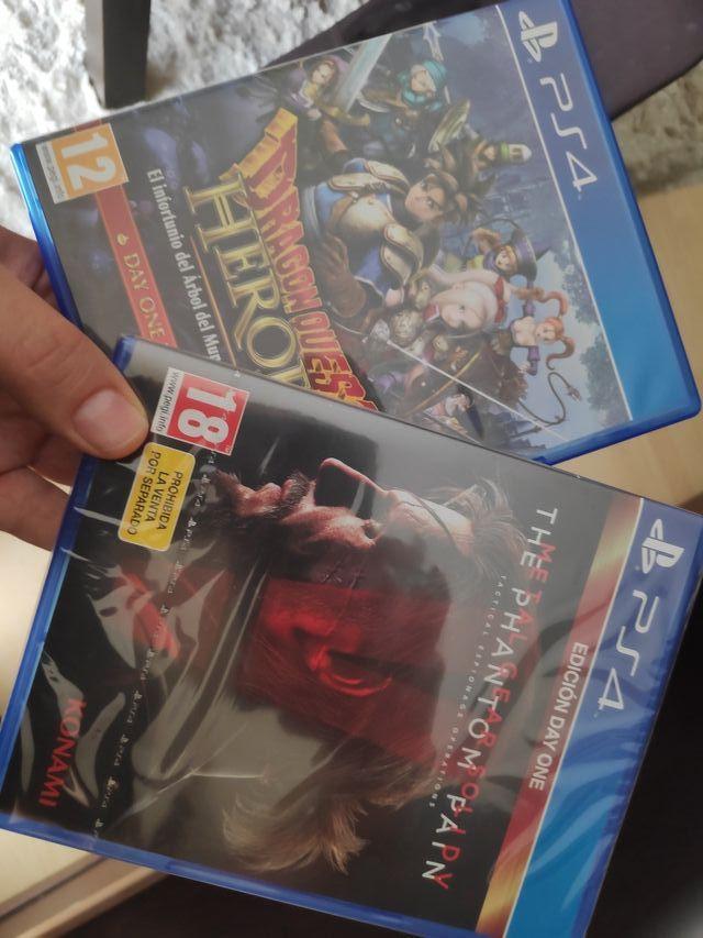 metal gear solid V & Dragon Quest Heroes ps4