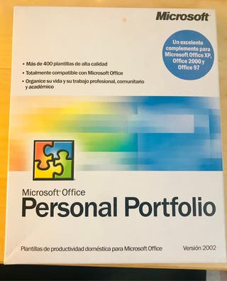 Microsoft personal portfolio software