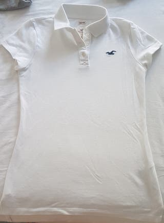 Polo blanco Hollister