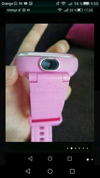 Reloj digital rosa