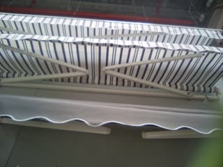 toldo blanco y rayas grises 3x2 manual