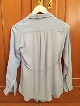 Camisa embarazada azul (Talla XS-S)