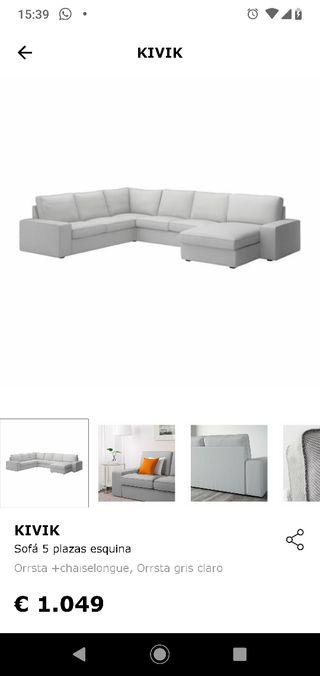 sofá Ikea modular kivik