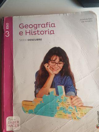 libro de texto geografia e historia 3ESO